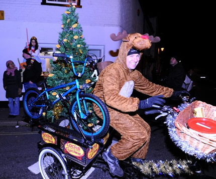 Reindeer Rides Bike
