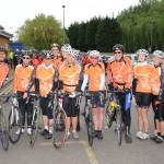 Cyclists from Le Tour de Sandwich i
