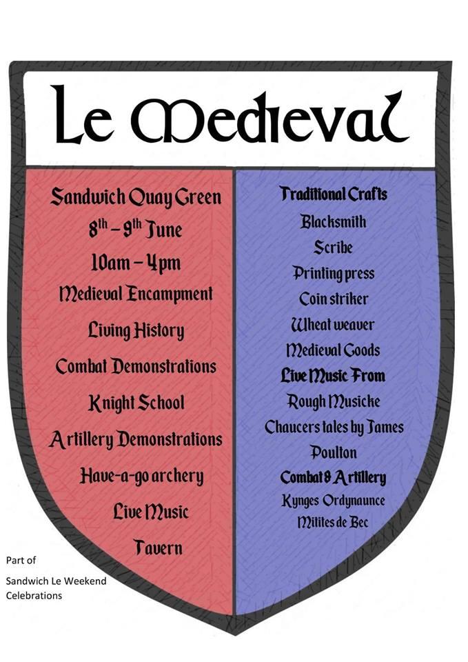 Le Medieval - Sandwich Events Calendar